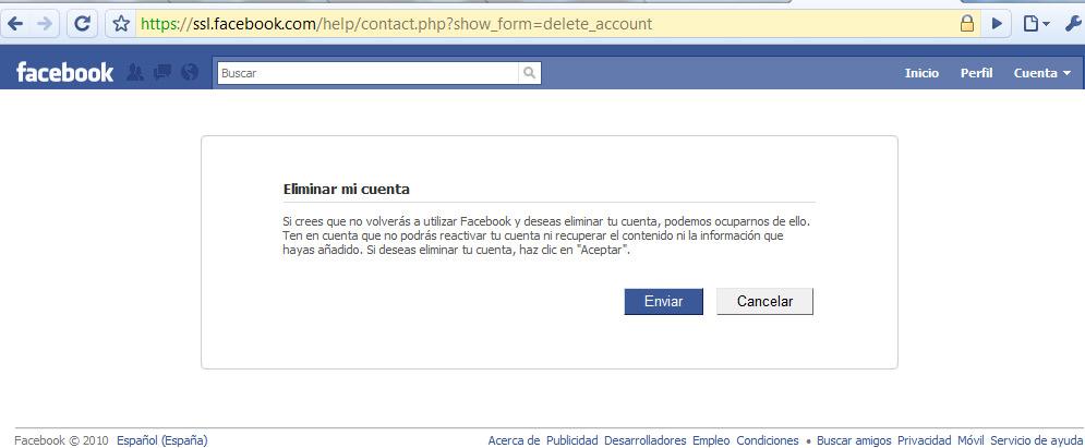 Cómo cerrar una cuenta de Facebook, pero de verdad