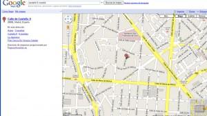 error en señalar la calle castelló de madrid en google maps